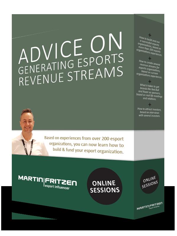 Advice on generating esports revenue streams